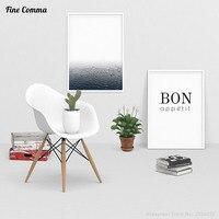 Ocean Fog Bon Appetit Nordic Scandinavian Decor Art Decor Posters And Prints Wall Picture For Living