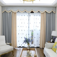 Modern Blackout Curtains for The Bedroom Solid Colors Stitched Curtains for The Living Room Window Valance Curtains Customized