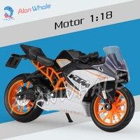 1:18 Schaal Nieuwe 2014 KTM RC 390 Metal Diecast Model Motorrijwiel Racing Cars MotoGP Speelgoed Jongens Voertuig Collection
