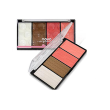 4 Color Face Cheek Makeup Blush Palette Highlight Face Powder Blusher Pigment Cosmetic Make Up Set Kit