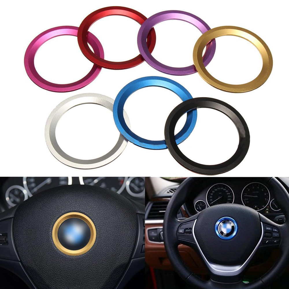 Promotion! Random Color Car Steering Wheel Center Decoration Ring Cover For BMW 1 3 4 5 7 Series