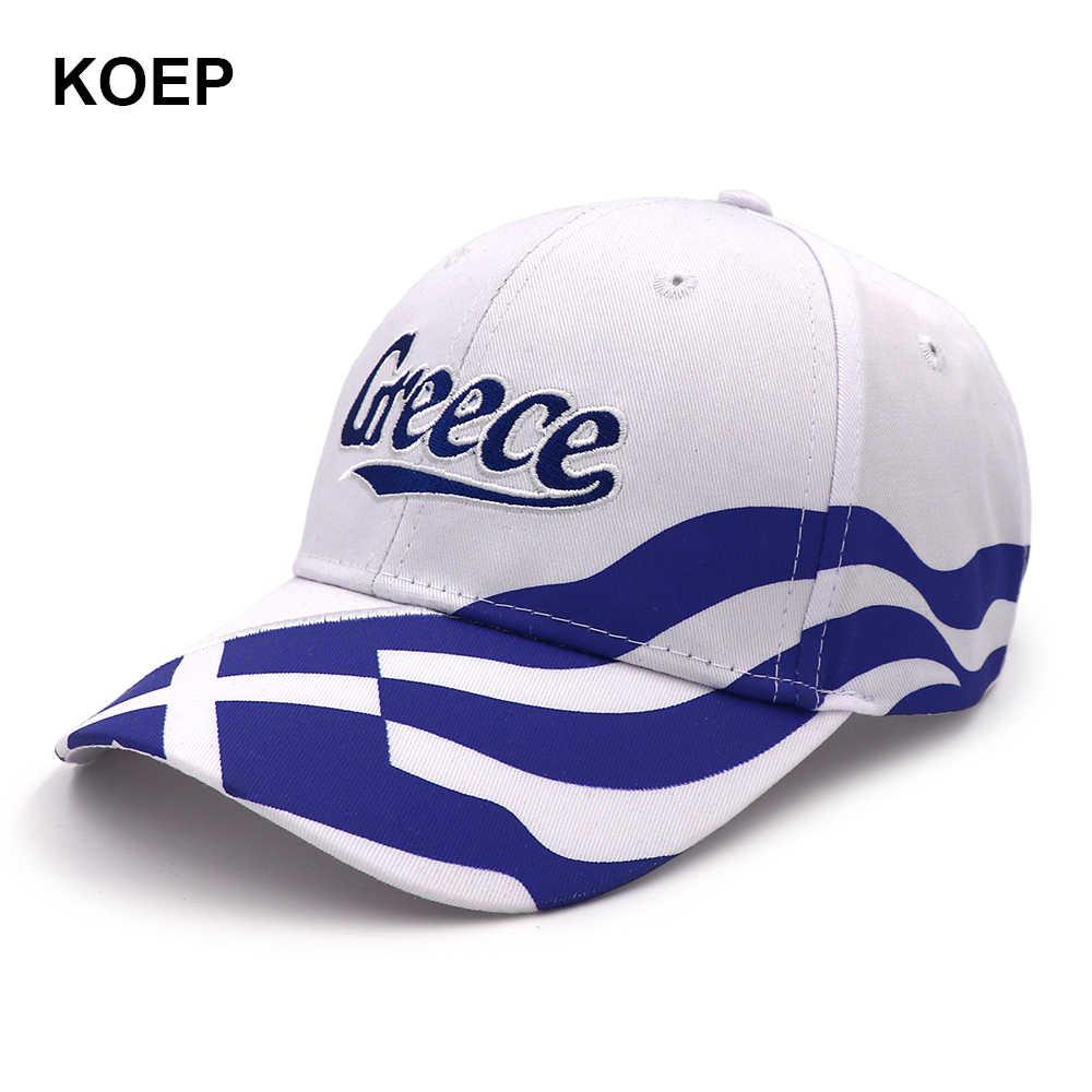 e3f7539ebd1a6f Detail Feedback Questions about KOEP Wholesale Spring Fashion Baseball Cap  Snapback Greece Flag Caps For Women Summer Mesh Trucker Hat Girl Unisex Hip  Hop ...