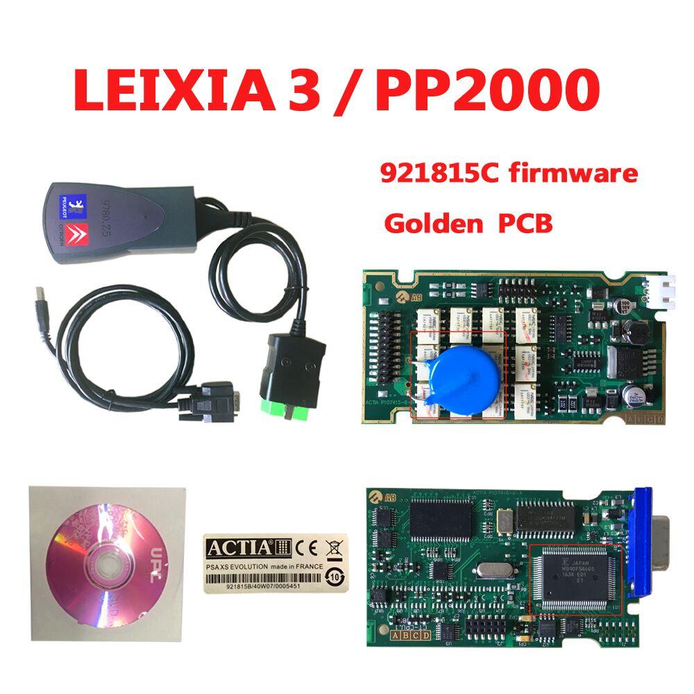 2018 neueste Lexia3 PP2000 Auto Auto diagnose werkzeug V48/V25 Lexia 3 Diagbox goldene pcb