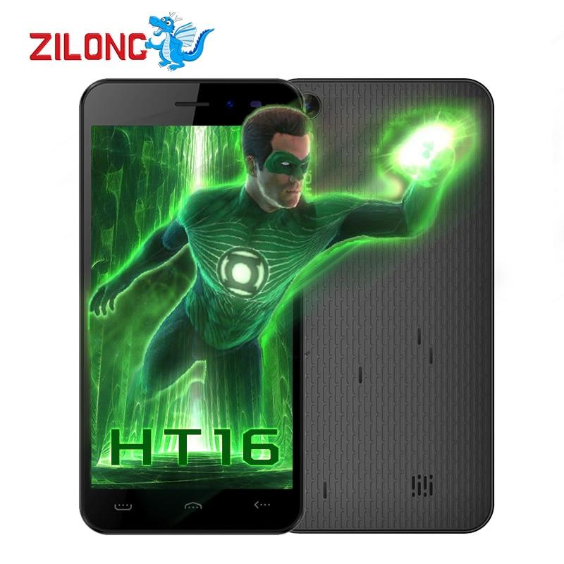 Цена за Оригинал HOMTOM HT16 Смартфон Android 6.0 5.0 дюймов MT6580 Quad Core 1.3 ГГц 1280x720 1 ГБ RAM 8 ГБ ROM 3000 мАч 8MP 3 Г Мобильный телефон