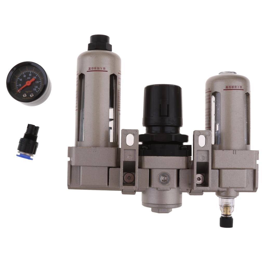 3/8inch Pneumatic Air Treatment FRL Air Pressure Regulator Oil Water Separator Trap Filter