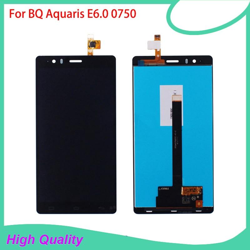 100% Garantía de LCD de Pantalla Para BQ Aquaris E6 E6.0 BQ 0750 Touch Pantalla
