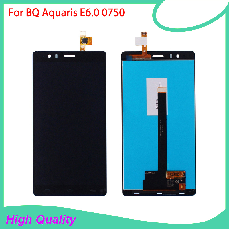 ФОТО 100%Guarantee LCD Display For BQ Aquaris E6.0 BQ E6 0750 Touch Screen Digitizer Assembly High Quality Mobile Phone LCDs
