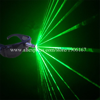 Hot Sale  532nm 80mw Green Laser Glasses For Christmas Halloween Decoration Laserman Glasses Stage Laser Show Party Supplies