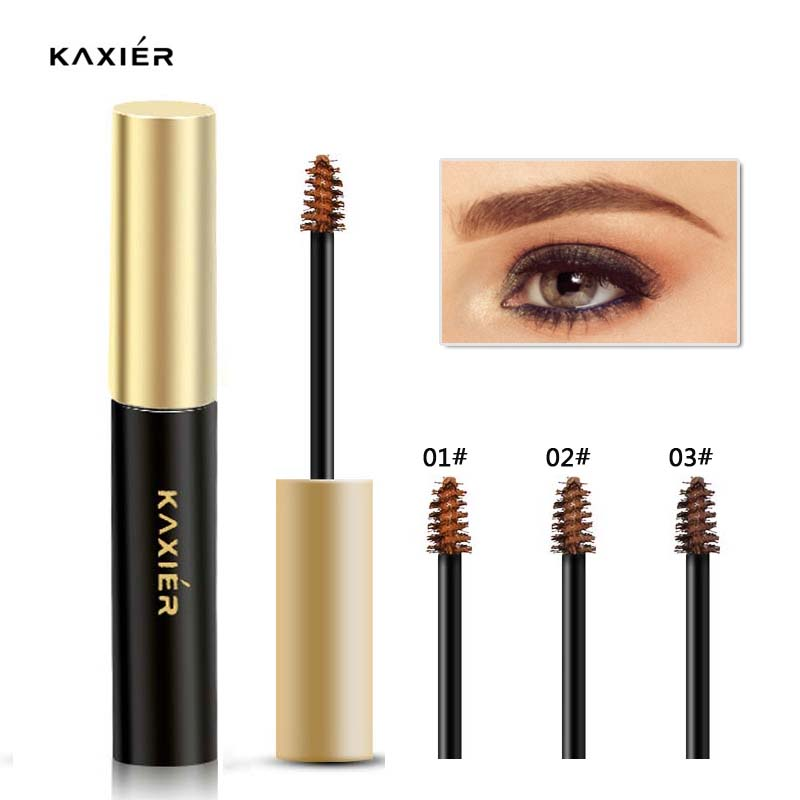 New KAXIER Brand Makeup Waterproof Henna Eyebrows Tint Gel Natural Brown Color Pigments Long Lasting Eye Brow Paint Cosmetics