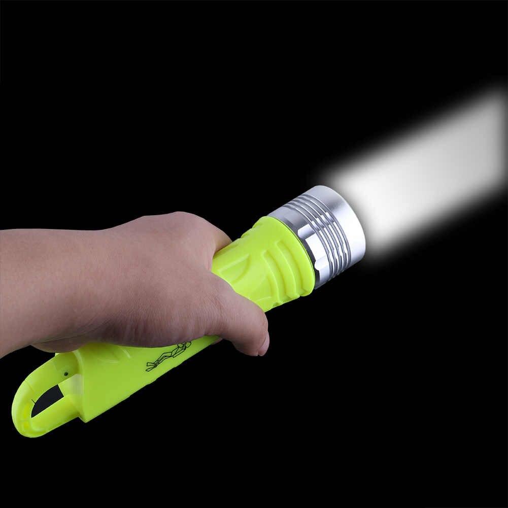 Yüksek parlak LED Dalış El Feneri Tek Modlu 2300LM Sualtı 10 M Etkili Dalış Meşale Su Geçirmez Linternas Kuyruk Kanca Ile