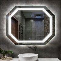 Современное высокотехнологичное multi функции светодио дный свет зеркало для Ванная комната отеля проектор Анти туман Водонепроницаемый сен