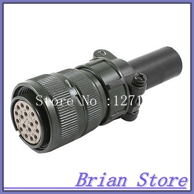AC 500V 13A 17P Terminal Female Cable Metal Aviation Straight Connecting Plug ac 125v 4a 4 pin male female cable quick connecting aviation plug