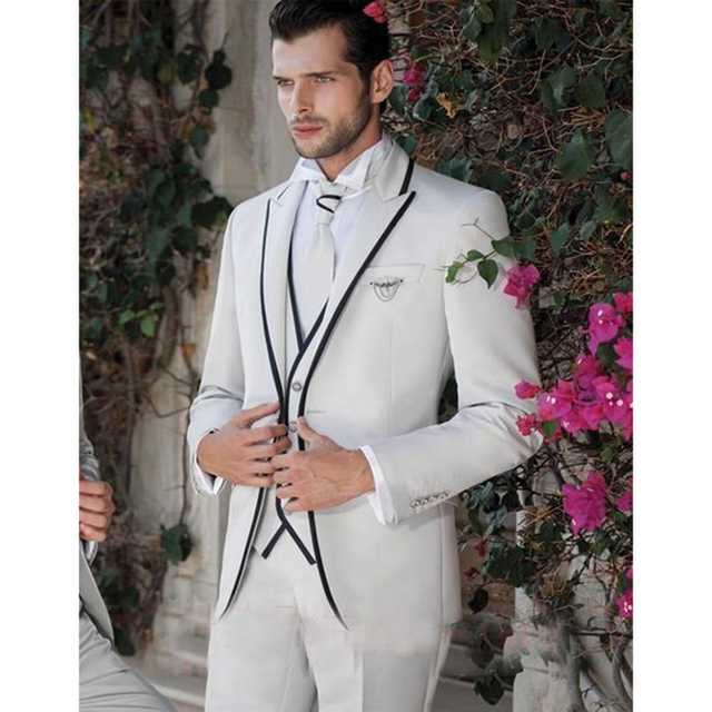 2017 new design ivory mens wedding tuxedos peaked lapel wedding 2017 new design ivory mens wedding tuxedos peaked lapel wedding suits for men two buttons tuxedos junglespirit
