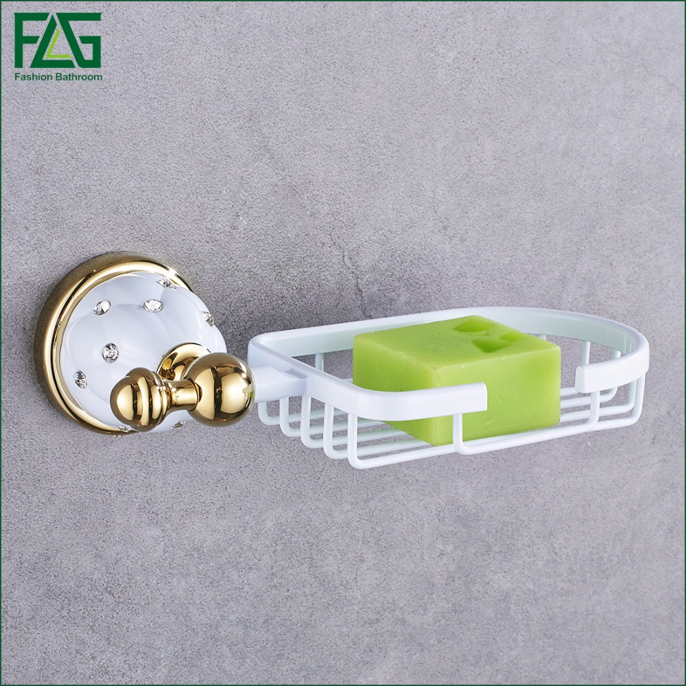FLG New Golden Finish Brass Flexible Soap Basket /Soap Dish/Soap Holder /Bathroom Accessories,Bathroom Furniture Toilet Vanity