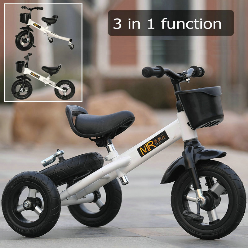 1 car three ways to play all-metal multi-function children's tricycle baby tandem bicycle 3-6 old baby drift car toy car go kart