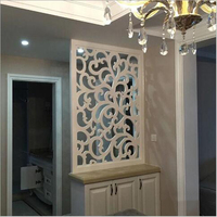 PVC living room partition screen cabinet hollow out board carvings porch wine cabinet contracted shop window mobile