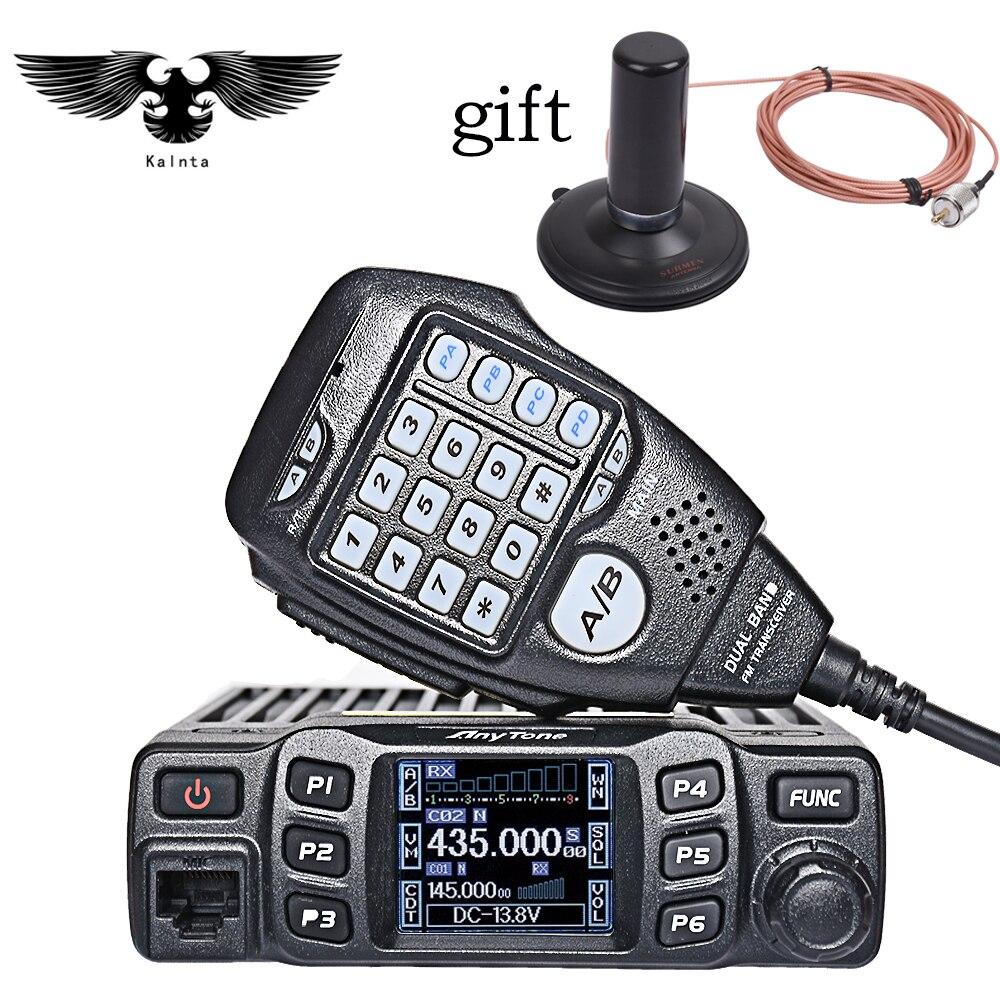 imágenes para AnyTone AT-778UV Transceptor de Radio Móvil de Doble Banda VHF/UHF de Dos Vías y Amateur Ham Radio Walkie talkie por camionisti Radio
