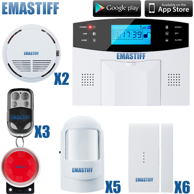 free shipping IOS & android APP control Intercom wireless GSM alarm system security home kits with Russian/French/ Spanish voice mesbang touch screen gsm security alarm system app with english russian spanish german french free shipping