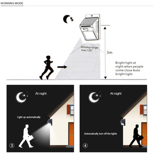 Image 4 - الطاقة الشمسية مصباح حديقة 100 LED تعمل بالطاقة الشمسية PIR محس حركة مصباح مقاوم للماء في الهواء الطلق إضاءة للتزيين أضواء لاسلكية الجدار مصباح