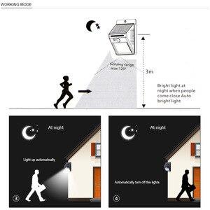 Image 4 - Güneş bahçe lambası 100 LED güneş enerjili PIR hareket sensörü lambası su geçirmez dış mekan aydınlatma dekorasyon ışıkları kablosuz duvar lambası