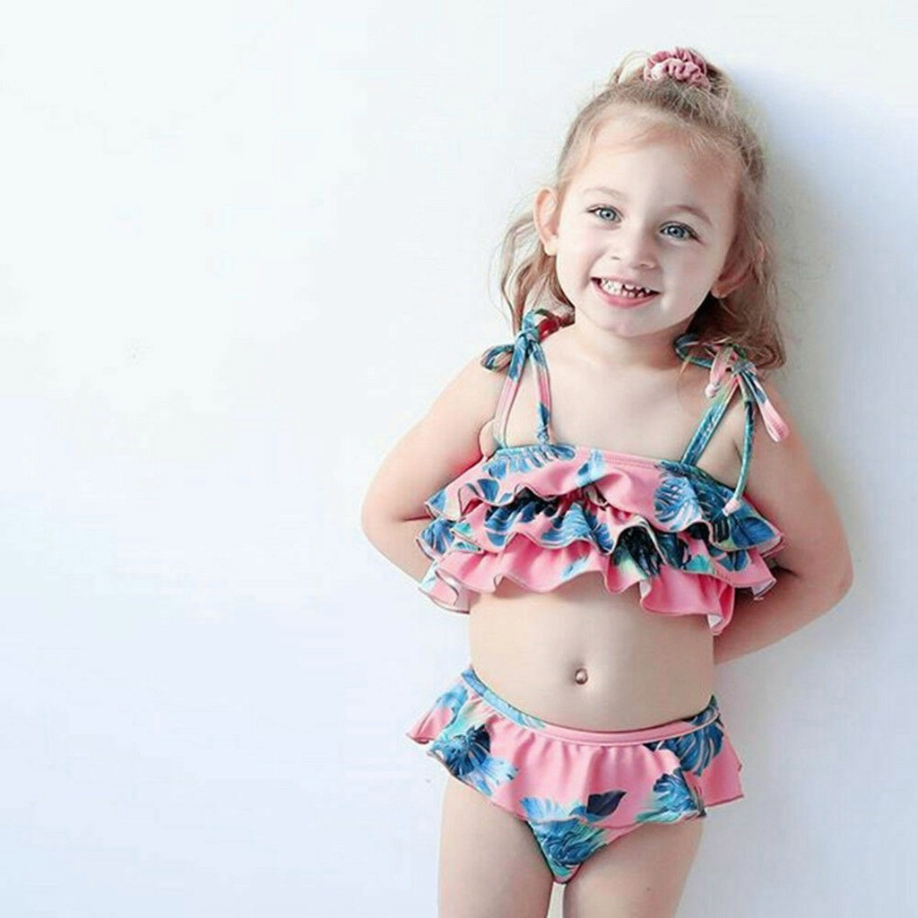 Telotuny дети купальники для малышек дети обувь Девочек Пляжные подвесной купальник+ шорты комплект летний ванный#40