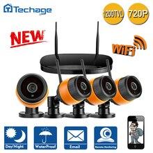 Techage 4CH Беспроводной NVR WIFI ВИДЕОНАБЛЮДЕНИЯ Система 4 ШТ. Открытый Крытый 720 P ИК Ночного Видения P2P Безопасности Ip-камеры Видеонаблюдения комплект
