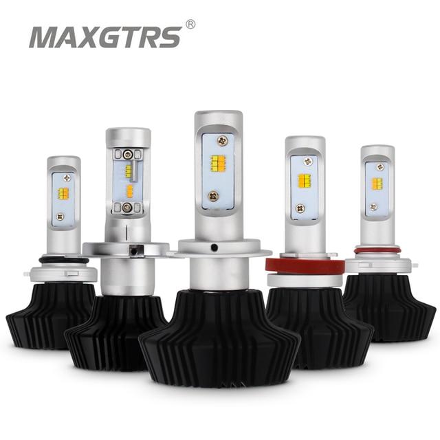 Dual Color Car H4 H7 LED Headlight H8 H9 H11 9005 HB3 9006 HB4 100W 4000lm Auto Front Headlight Light Bulb Headlamp White/Yellow