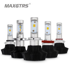 Dual Color Car H4 H7 LED Headlight H8 H9 H11 9005 HB3 9006 HB4 100W 4000lm Auto Front Headlight Light Bulb Headlamp White/Yellow(China)