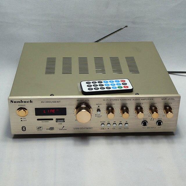 5channel400W HIFI HOME AMP AV-580USB/BT C5198 stereo KARAOKE audio Bluetooth khuếch đại với FM radio và từ xa hiển thị Kỹ Thuật Số