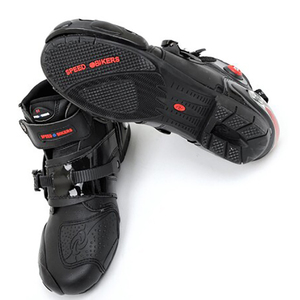 Image 2 - חדש אופנוע קצר אתחול מיקרופייבר עור Probiker מירוץ קרסול רכיבה נעלי מוטוקרוס סירות החלקה נעלי אופנוע מגפיים