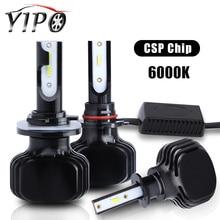 цена на H3 led headlight 9005 880 D2S 5202 9004 9007 H13 H15 led car bulb CSP chips external car light headlamp lamp beam 6000k 12V 60W