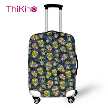 Thikin  Printing Skull Travel Luggage Cover Dog School Trunk Suitcase Protective Bag Protector