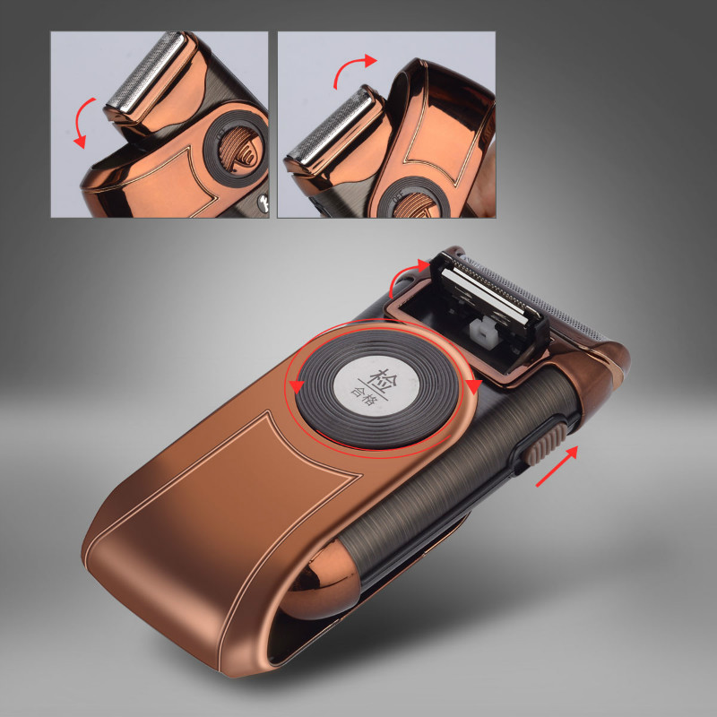men's electric razor shaving machine with 3d floating heads rechargeable with reciprocating shaver