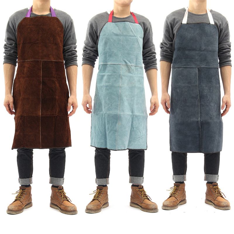 Welding Apron Work Protective Clothing Dustproof Uniform Apron Safety Fire-retardant Insulation Split Cow Leather Candles & Holders Electronic Components & Supplies