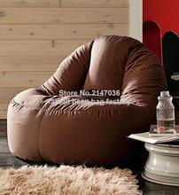 Marrom do saco de feijão cadeira sofá-assento ao ar livre mobiliário conjunto de sofá-à prova d' água high back cadeiras do pátio do jardim