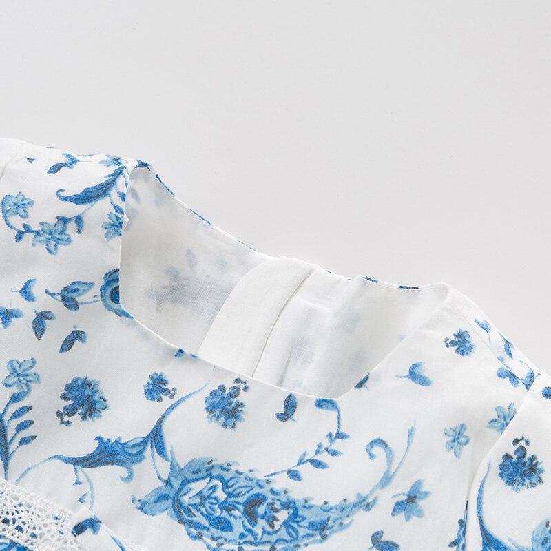 DB10487 デイブベラ夏女の赤ちゃんのプリンセスドレスファッション中国風のプリント子供パーティードレス子供幼児ロリータ服  グループ上の ママ & キッズ からの ドレス の中 3