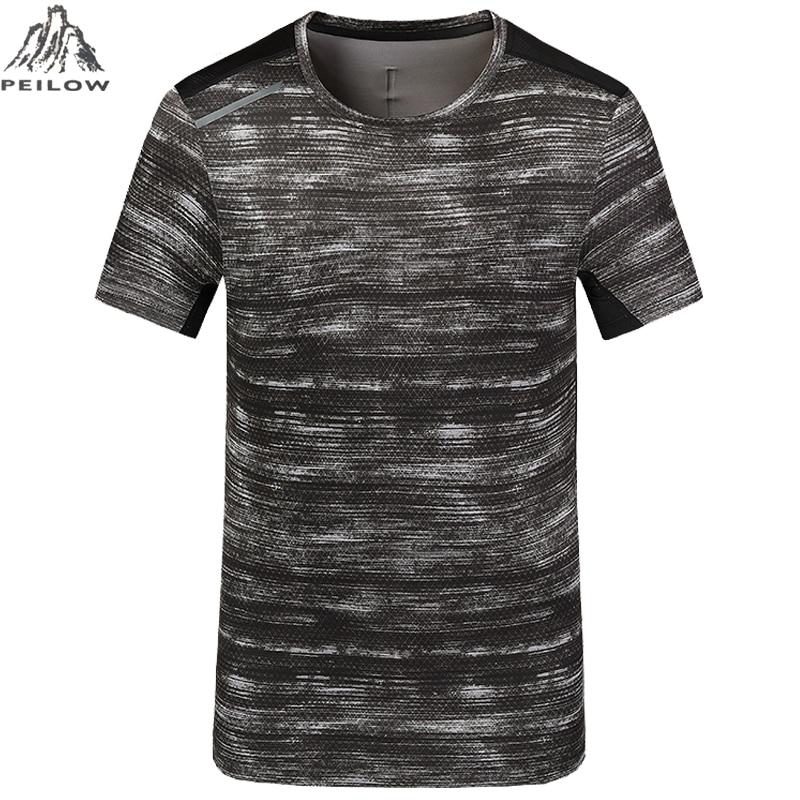 PEILOW big size L~5XL,6XL,7XL,8XL Brand Short sleeve   t     shirts   Quick Dry Slim Fit Men Women Camouflage Military   T  -  shirt   Men   Shirt