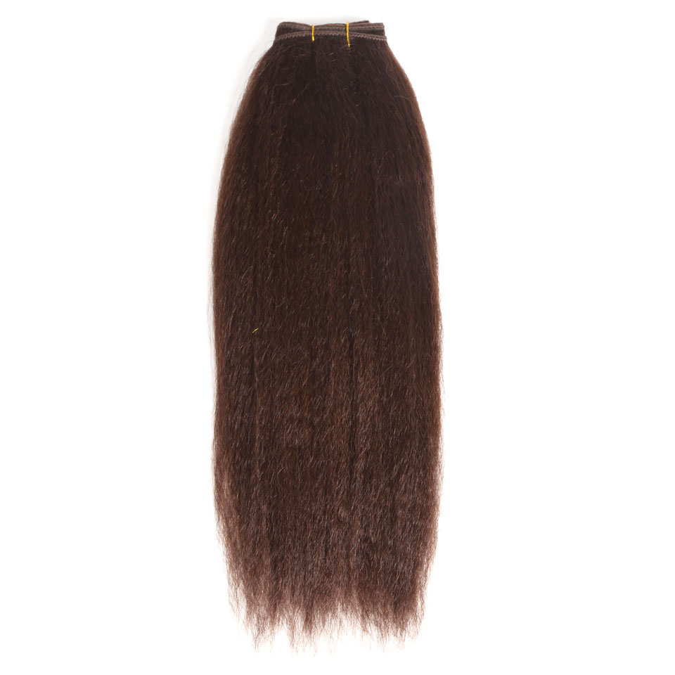 Hair Weaves Black Pearl Pre-colored Yaki Straight Human Hair Bundles Brazilian Hair Weave Bundles Hair Extension 1 Bundle Hair Weft 100g 1b# Hair Extensions & Wigs