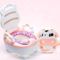 Newest Cartoon Cow Baby Potty Portable Drawer Toilet Seat For Children Toddlers Potty Training Infant Urinal With Soft Cushion