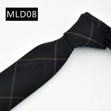 NINIRUSI Fashion Mens Skinny Ties Casual 6cm Width Narrow Cotton Neckties for Wedding Party High Quality Groom Slim Cravats Tie