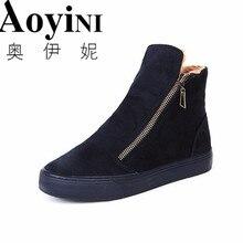 Женские ботинки зимние женские теплые боты из коллекции обувь из хлопка ботильоны женские обувь с высоким берцем на плоской подошве с круглым носом теплая повседневная обувь