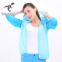 Velraptor Women's Summer Thin Light Sun-Proof hoodie Outwear UV-protection Sweatshirts Sport Cloths Cycling Fishing Hiking