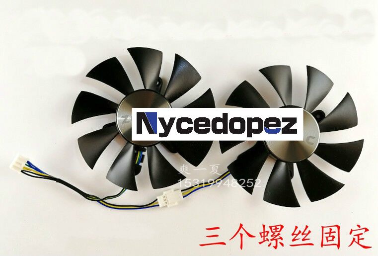 Applicable for ZOTAC GTX960 GTX1060 GTX1070 Radiator 4-wire temperature control fan image