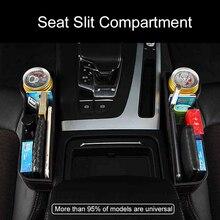Car Multi-function Seats Gap Storage Box Leather Leak-Proof Box Bottle Cup Holder Universal Seat Side Crevice Pockets Organizer недорого
