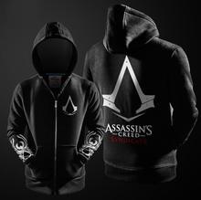(HD10)Autumn Winter Game Hoodie Men Black Cosplay Sweatshirt Costume Fleece Lined Fashion Quality Mens Hoodies Jackets