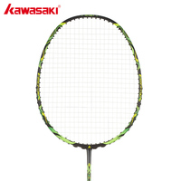 KAWASAKI Brand 4U Badminton Rackets with String 100% Carbon Single Rackets for Junior Firefox S720 Badminton Racquet