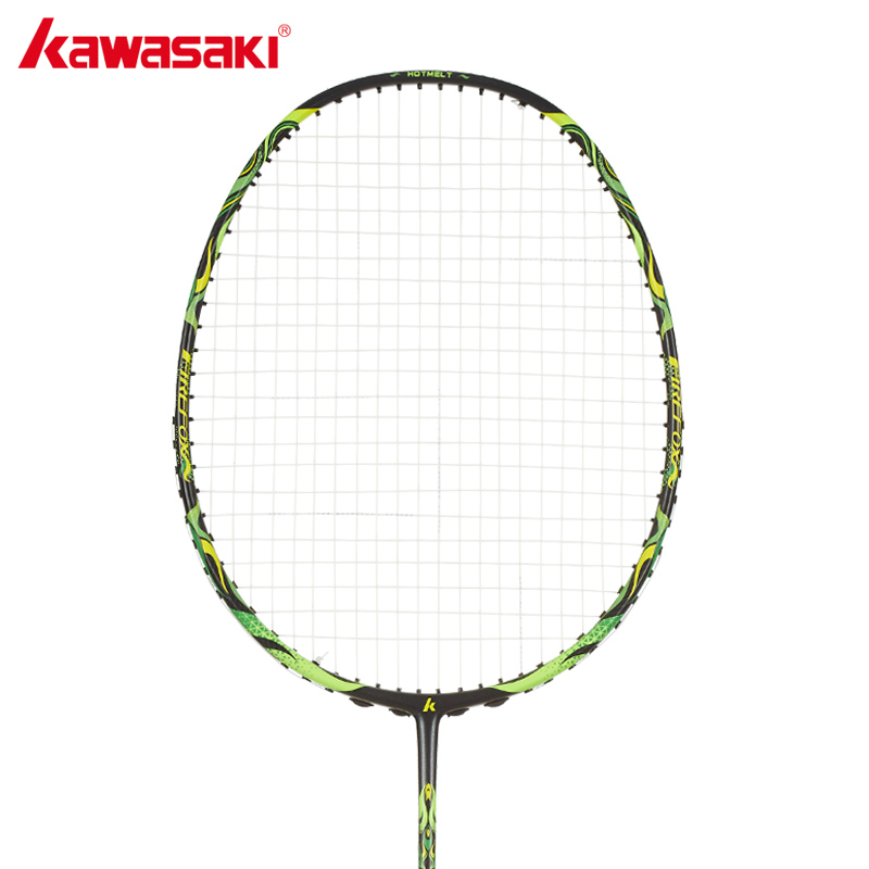 KAWASAKI Brand 4U Badminton Rackets with String 100% Carbon Single Rackets for Junior Firefox S720 Badminton Racquet kawasaki original badminton racket offensive type 18 30lbs graphite fiber badminton racquet for junior players firefox 570 sd
