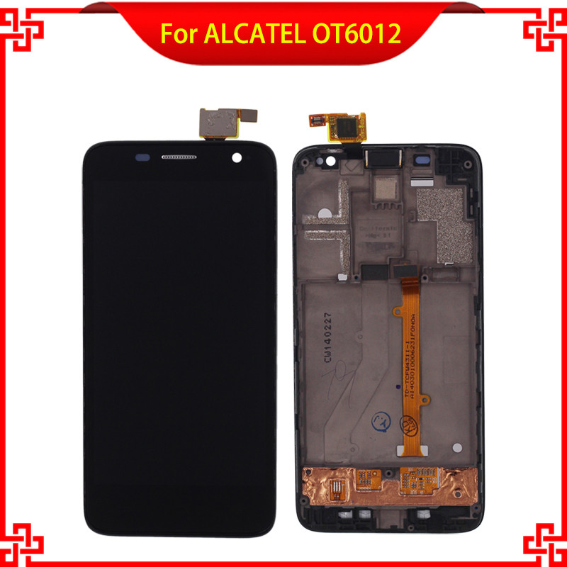 For Alcatel One Touch Idol mini 6012 OT6012 6012A 6012D 6012W 6012X LCD Display Touch Screen Digitizer Assembly with Frame