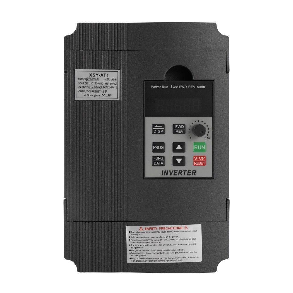 AT1-2200S avec 2.2KW 12A 220V AC universel VFD régulateur de vitesse moteur monophasé dans inverseur Variable triphasé