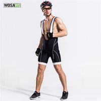 WOSAWE Men S Cycling Bib Shorts Bicycle 3D Gel Padded Braces Vest Shorts Pants Classic Race
